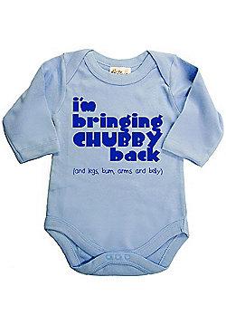 Dirty Fingers I'm bringing Chubby back Baby LS Bodysuit - Blue