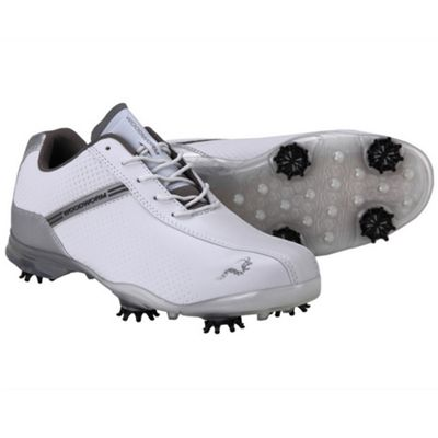 Woodworm Tfg Waterproof Golf Shoes White/Silver 12