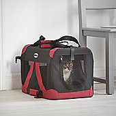 Milo & Misty Small Fabric Pet Carrier - Lightweight Travel Seat for Dogs, Cats, Puppies - Made of Waterproof Nylon and a Durable Steel Frame