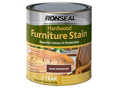 Ronseal Ultimate Protection Hardwood Garden Furniture Stain Rosewood 750ml