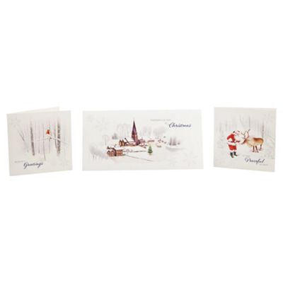 Tesco Charity Traditional Scene Christmas Cards, 30 Pack
