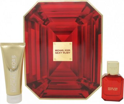 Michael Kors Sexy Ruby Gift Set 50ml EDP + 100ml Body Lotion For Women