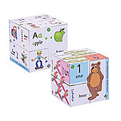ZooBooKoo Pre-School Cube Book Pack - Alphabet and Numbers