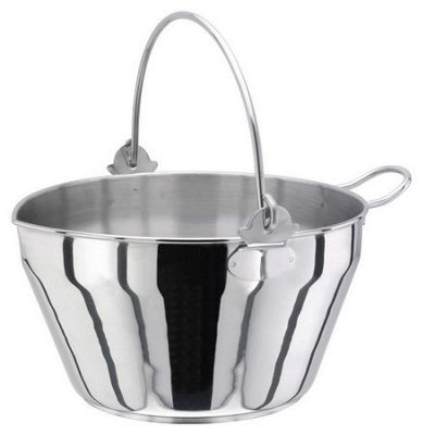 Kitchen Craft 9 LitreMaslin Pan St/St with Handle