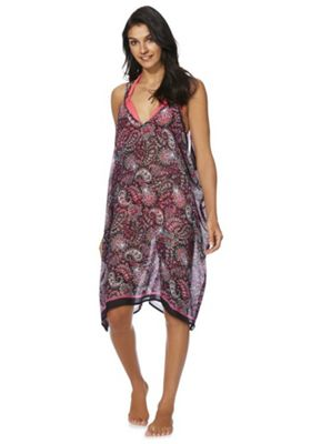 F&F Persian Paisley Print Beach Dress Multi L