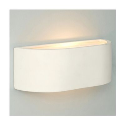 Curved Ceramic Indoor Wall Light, White