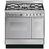 Smeg CC92MX9 90cm Dual Fuel Range Cooker in Stainless Steel | Double Oven & 5 Burners