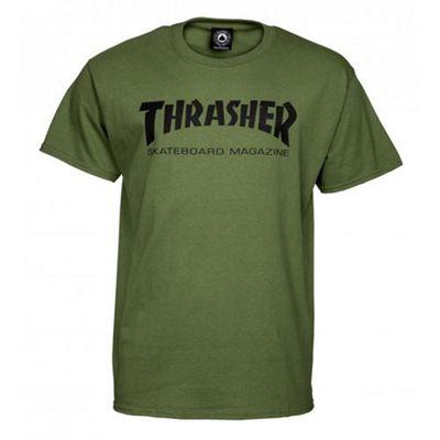 Thrasher Skate Mag T-Shirt - Army Green X-Large