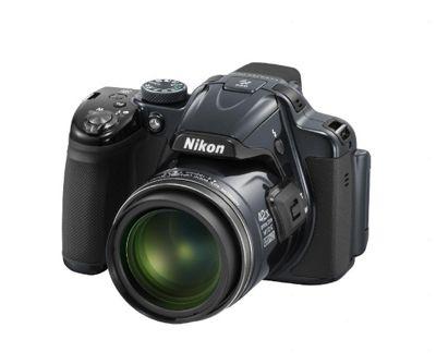 Nikon Coolpix P520 Digital Camera, Silver, 18 MP, 42x Optical Zoom, 3