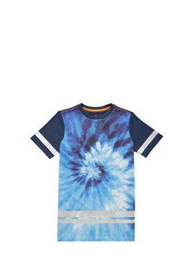 F&F Mesh Tie Dye T-Shirt Blue 5-6 years