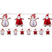 Santa and Friends Honeycomb Character Garland - 2m