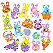 Easter Bunny Stickers for Children to Decorate and Personalise Crafts & Cards - Scrapbooking Embellishment for Kids (Pack of 128)