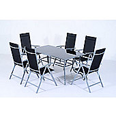 Outsunny 7pcs Garden Dining Set Modern Folding Chairs Furniture Patio Set