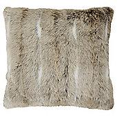 Light Natural Faux Fur Cushion