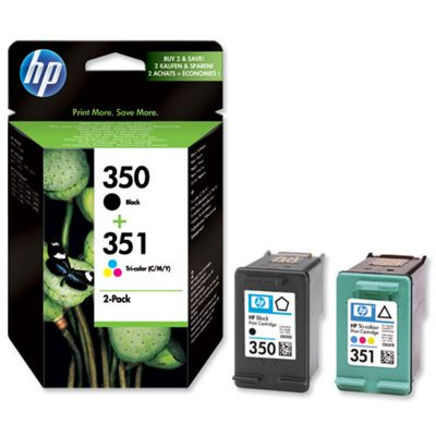 HP 350 Black/351 Tri-colour 2-pack Original Ink Cartridges