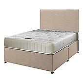 Happy Beds Ortho Royale Mattress Divan Bed Set Plain Headboard Cream