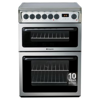 Hotpoint Electric Cooker, HAE60XS, Stainless Steel