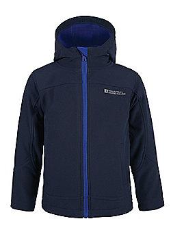 Exodus Kids Boys Girls Softshell Lightweight Water-resistant Breathable Jacket - Blue