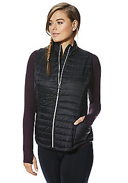 F&F Active Quilted Gilet - Black