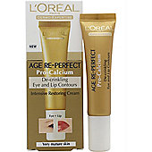 L'Oreal Age Re-Perfect Pro-Calcium De-Crinkling Eye & Lip Contour Cream 15ml Very Mature Skin