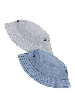 F&F 2 Pack of Bucket Hats - Blue