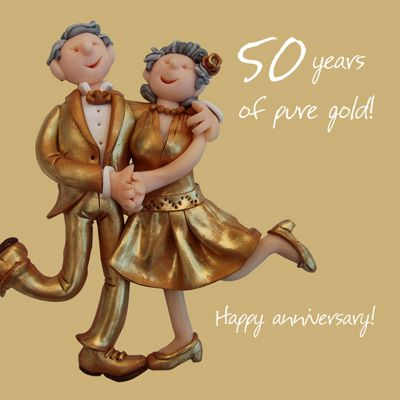 Buy holy mackerel happy 50th wedding anniversary happy gold holy mackerel happy 50th wedding anniversary happy gold anniversary greetings card m4hsunfo