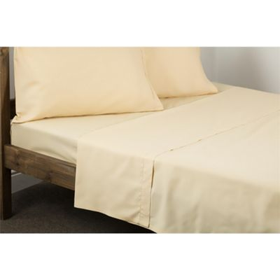 Belledorm Egyptian Cotton 200 Thread Count Papyrus Flat Sheet - Double