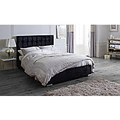 Catherine Lansfield Gatsby Classic Black Bed Frame - Black
