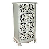 Alterton Furniture Small Carved Front 4 Drawers Chest