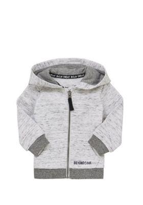 F&F Slogan Zip-Through Hoodie Grey Marl 12-18 months