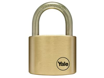 Yale Locks Y110 50mm Brass Padlock / Stainless Shackle