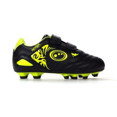 Optimum Razor Velcro Moulded Kids Football Boot Black/Yellow - UK 8