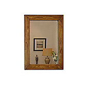 Large Rustic Solid Wood Wall Mirror 3Ft1 X 2Ft3 (93Cm X 68Cm)