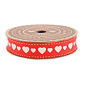 Red Love Heart Ribbon