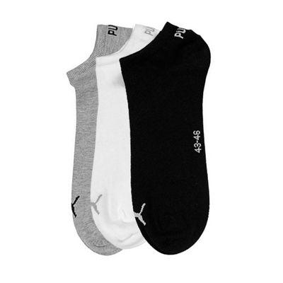PUMA 3 Pack Invisible Cushioned Sport Socks Mixed, UK 9-11