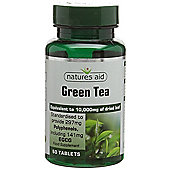 Natures Aid Green Tea 10000mg - 60 Tablets