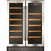 CDA FWC623SS 60cm 40 Bottle Free Standing Under Counter Wine Cooler In St/Steel