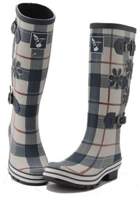 Evercreatures Ladies St George Funky Rubber Wellies Tartan Pattern - Size 3 (UK)