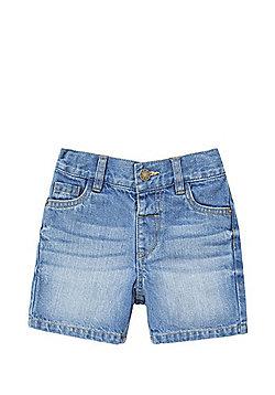 F&F Mid Wash Denim Shorts - Mid Wash