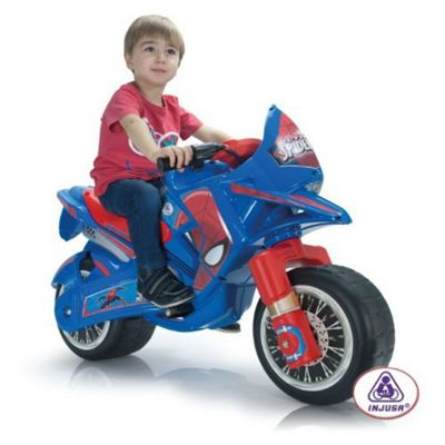 Spiderman Claws Kids Motorbike - Blue Electric Motorbike for Kids - Injusa