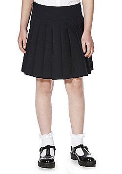 F&F School Girls Permanent Pleat Skirt - Navy