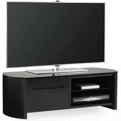 Alphason FW1100CB Black Oak Veneer TV Stand