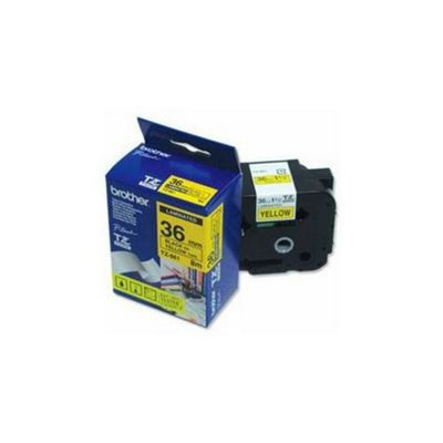 Brother TZ-661 Black On Yellow 36mm Laminated Labelling Tape (8m) for P-Touch