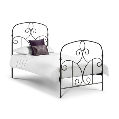 Black Mediterranean Style Metal Bed Frame Single High End - 3ft (90cm)