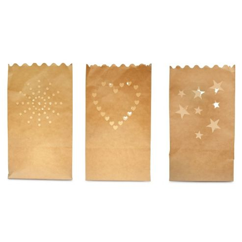 Pack of Three Flame Retardant Paper Tealight / Candle Bags