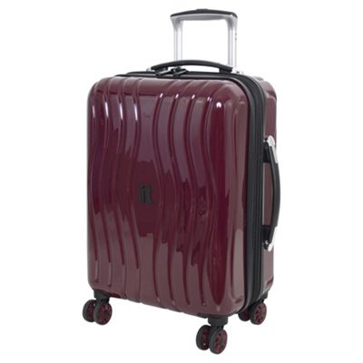 Buy IT Luggage Gloss 8 wheel Hard Shell Zinfandel Purple Cabin ...