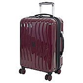 IT Luggage Gloss 8 wheel Hard Shell Zinfandel Purple Cabin Suitcase