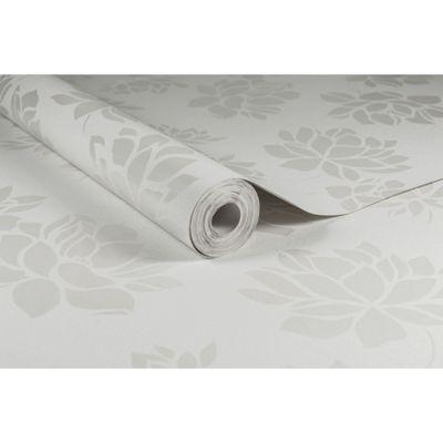 Superfresco Lotus Flower Floral White Wallpaper