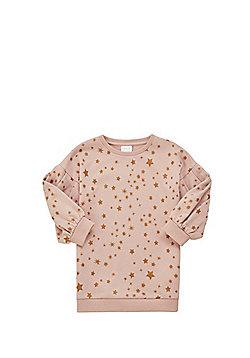 F&F Star Print Balloon Sleeve Sweatshirt - Pink