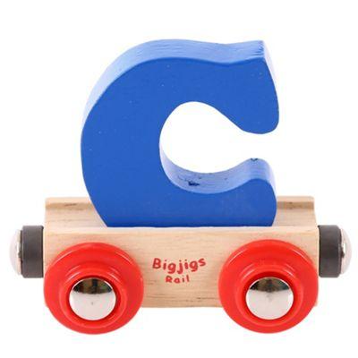 Bigjigs Rail Rail Name Letter C (Dark Blue)